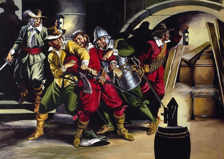 The Gunpowder Plot Painting - The Gunpowder Plot Fine Art Print ...