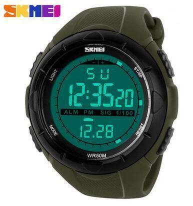368e1755375 SKMEI Brand 1025 LED Digital Mens Military Watch Men Sports Watches 5ATM  Swim Climbing Fashion Outdoor