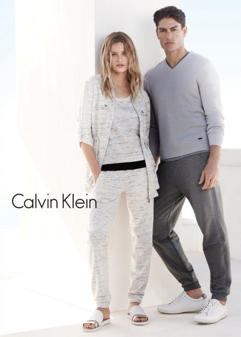 96cf28f5570 Casual basics at their finest are showcased for Calvin Klein White Label s  spring ads.