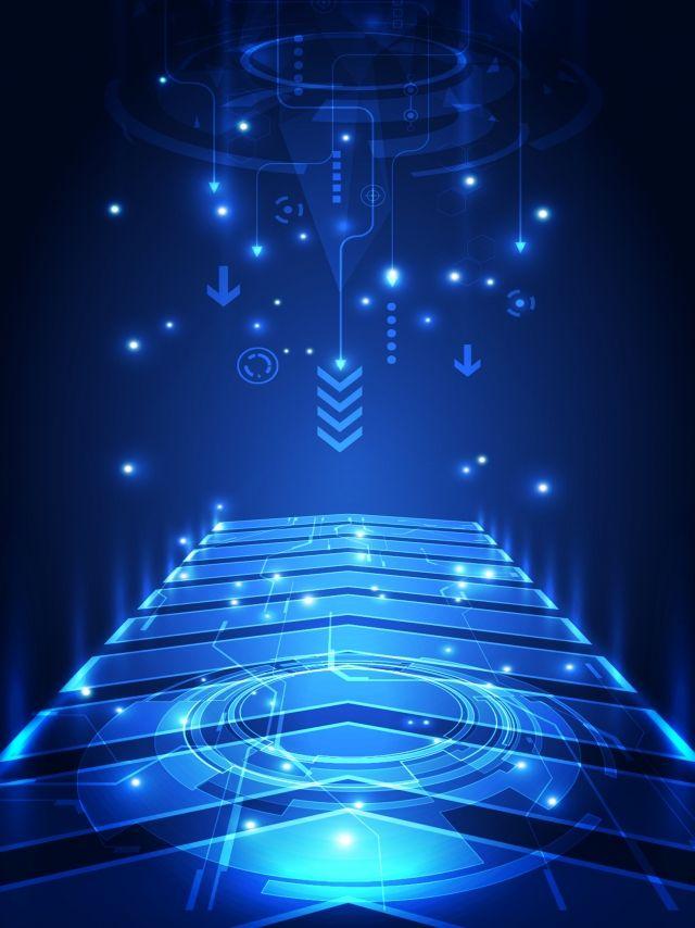 Blue Dynamic Arrow Tech Background