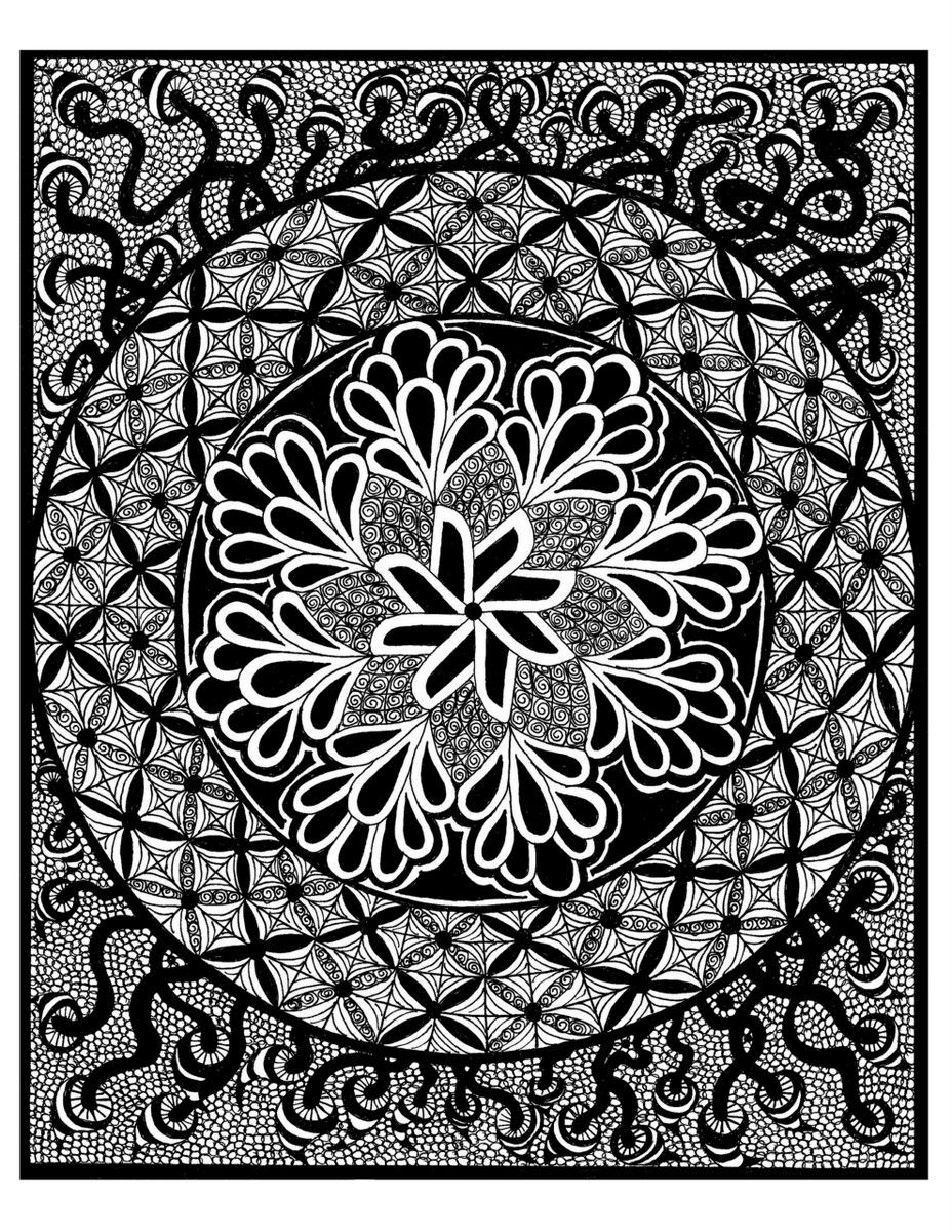 Stress free coloring images - Free Coloring Pages For Adults A Great Way To Relieve Stress