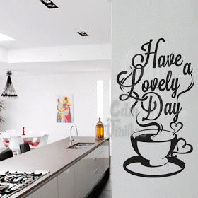 Murales café pared Pegatina de pared Sticker cafe cocina Coffee comedor decorativas