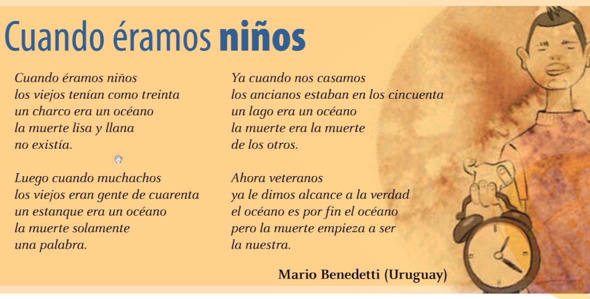 Cuando éramos Niños Mario Benedetti Benedetti Viejitos Lectura