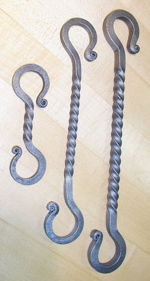 Wrought Iron Twisted 10 In Large S Hook Hanger Made By Etsy In 2020 Metal Working Projects Blacksmithing Wrought Iron