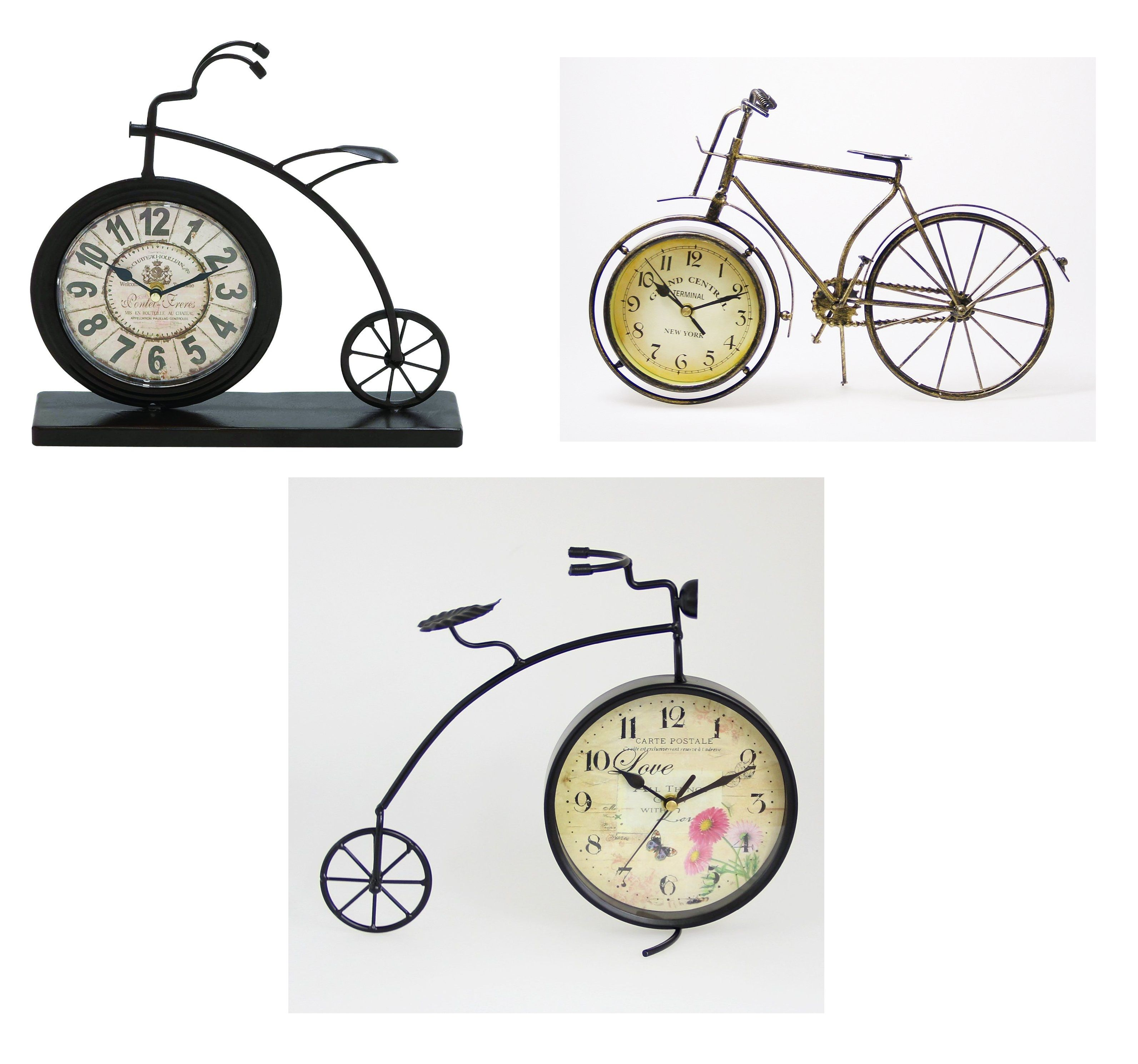 Antique Style Bicycle Designed Desk Clock