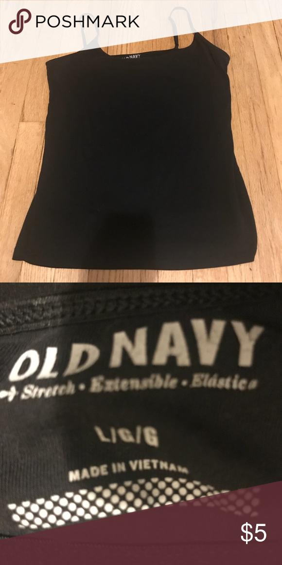 faebf2068b490 Women s Old Navy Black Tank Top w Shelf Bra Size L
