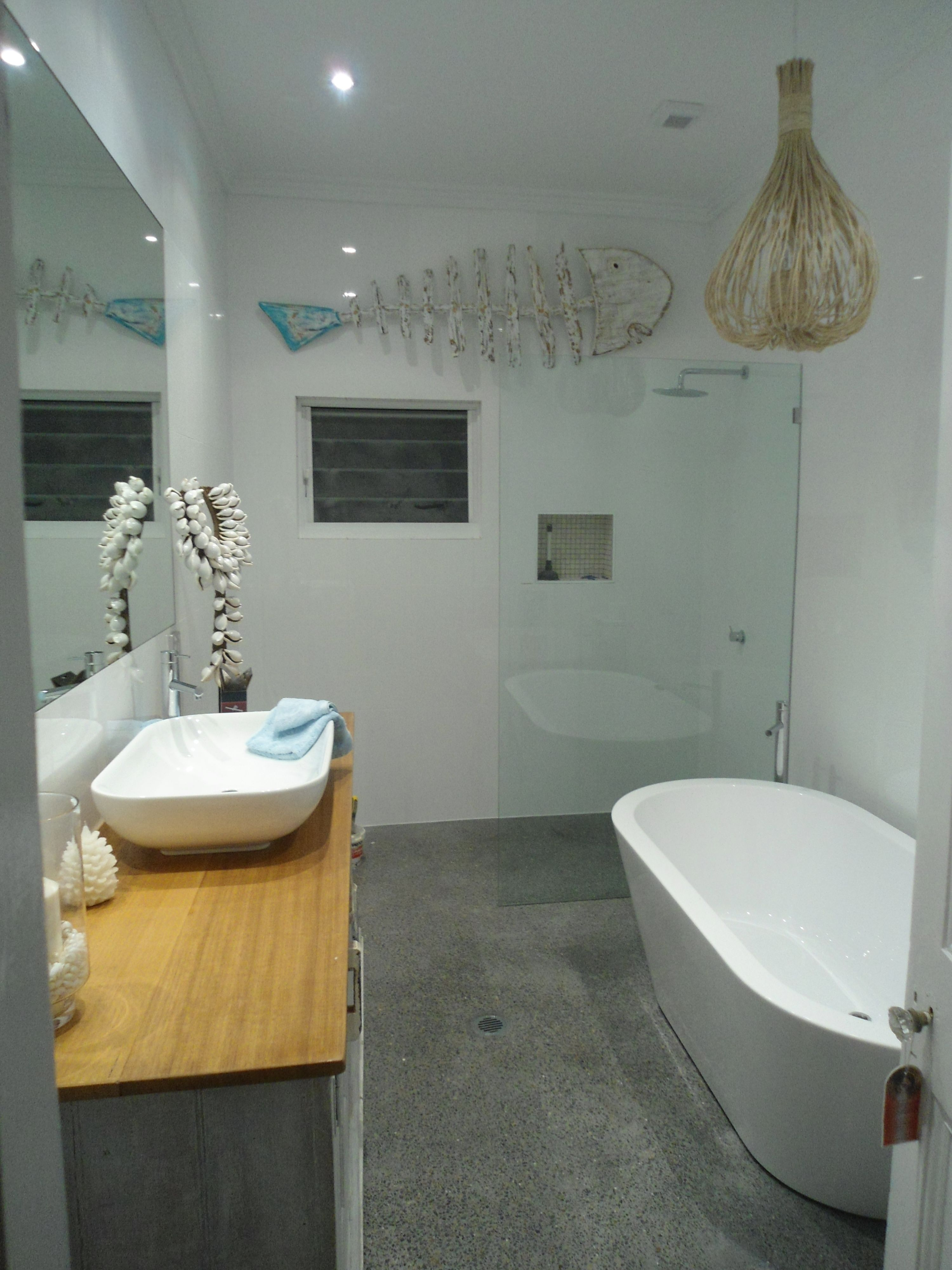 Coastal Bathroom reno   Small bathroom with bath, Small ...
