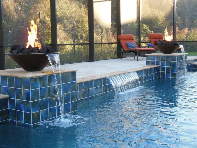 Fire bowl water woks fire feature fire water pool finish pool ideas pinterest fire - Pool fire bowls ...