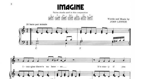 Imagine Sheet Music John Lennon Sheet Music John Lennon Piano