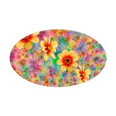 Hippie Psychedelic Flower Pattern Decal on CafePress.com