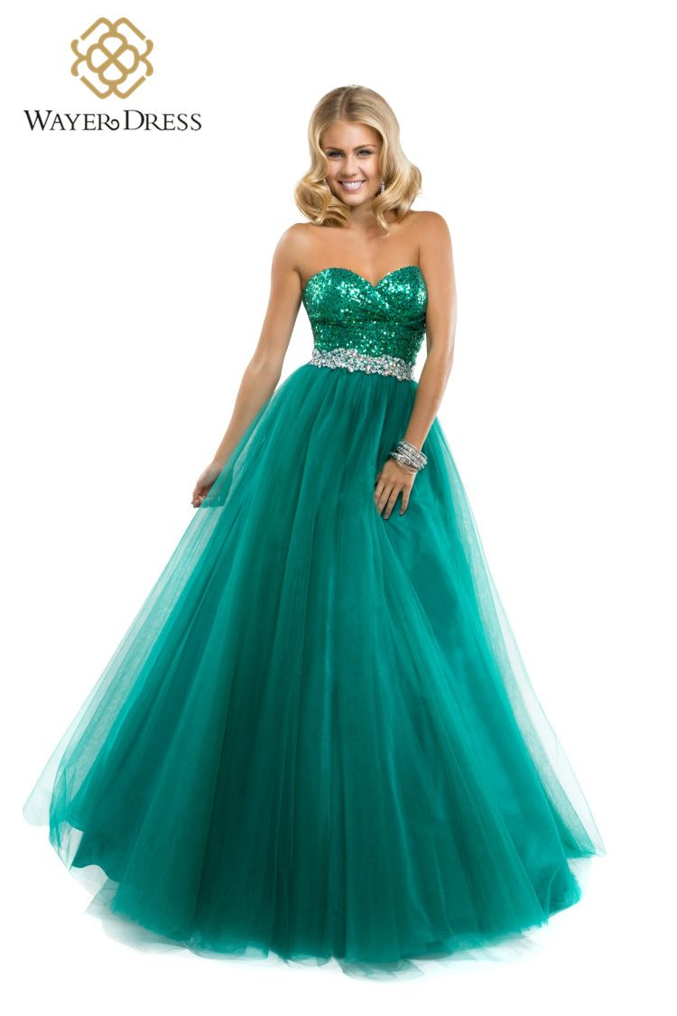 Emerald green prom dress  Designer Sparkly Sequined Beaded Long Prom Dresses Floor Length
