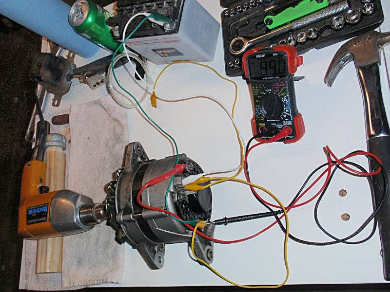 Using an old car alternator to generate electricity
