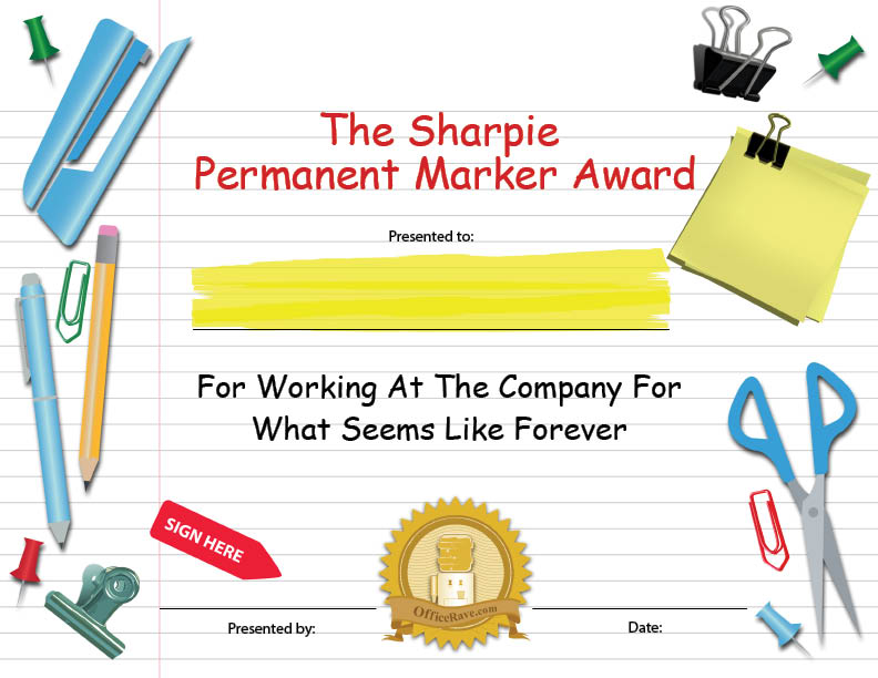 free funny award certificates templates funny award