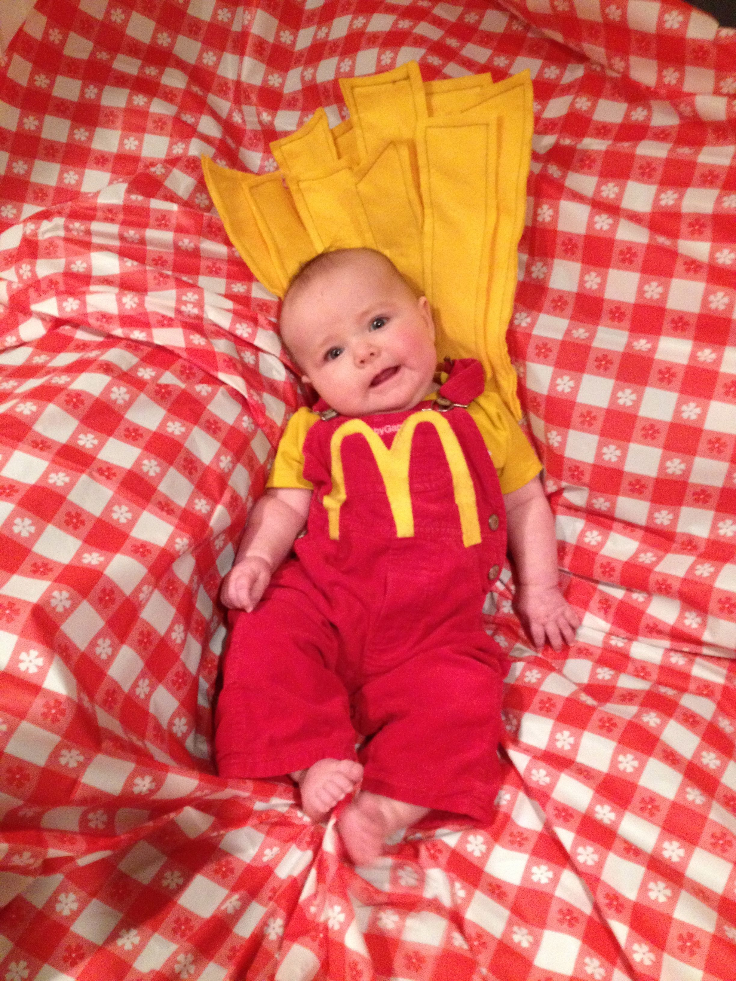 Baby French Fry Costume Gap Overalls Rocawear