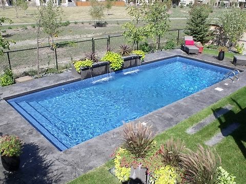 Image result for small rectangular pools | backyard ... on Landscaping Ideas For Rectangular Backyard id=14239