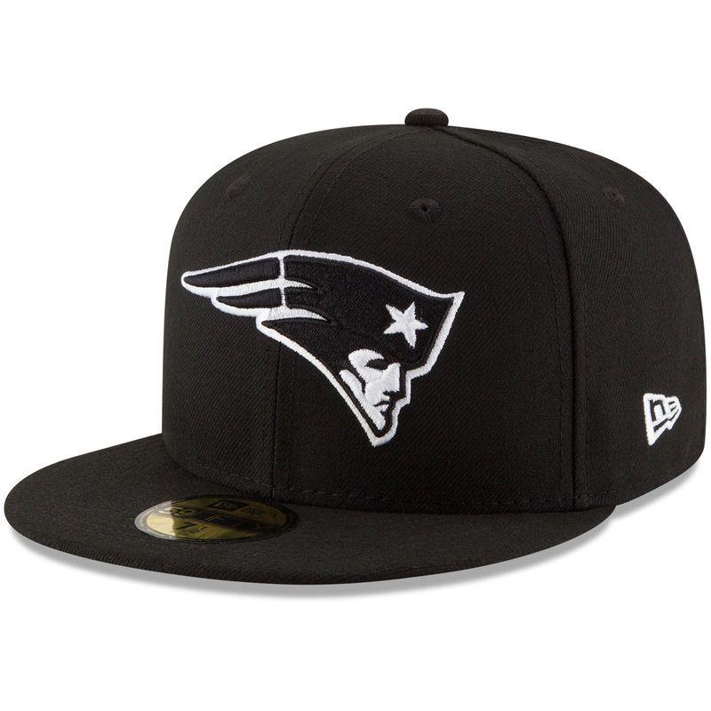 classic fit 53ece 28281 New England Patriots New Era B-Dub 59FIFTY Fitted Hat - Black