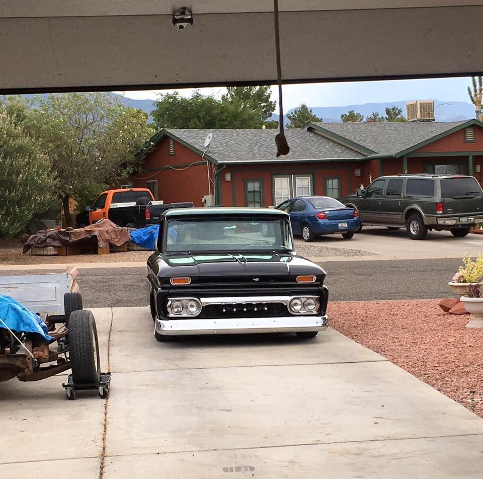 All Chevy 63 chevy c10 : 1960-63 Chevy C10 slammed in gloss black | Vehicles: Chevy Trucks ...