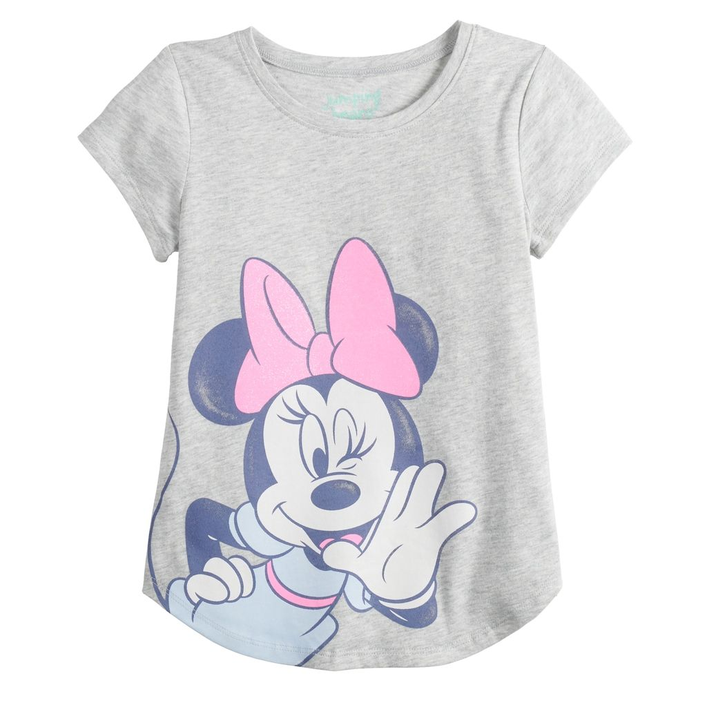 6fedf200a6de18 Disney's Minnie Mouse Girls 4-12 Graphic Tee by Jumping Beans®, Light Grey