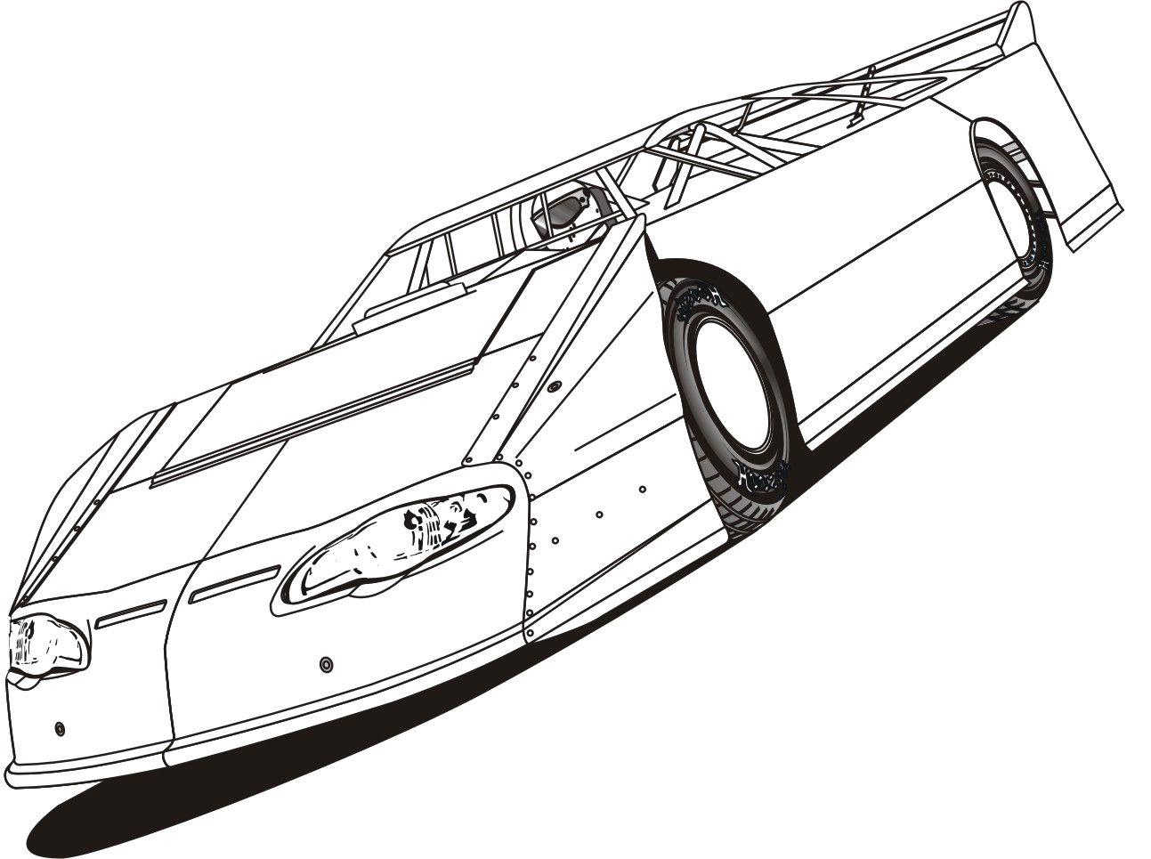Best Race Car Coloring Page
