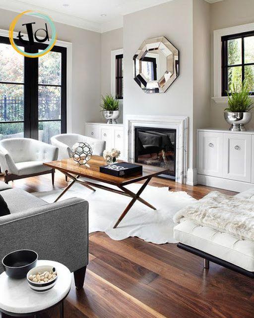 parquet scuro Salotti accoglienti, Design per il soggiorno