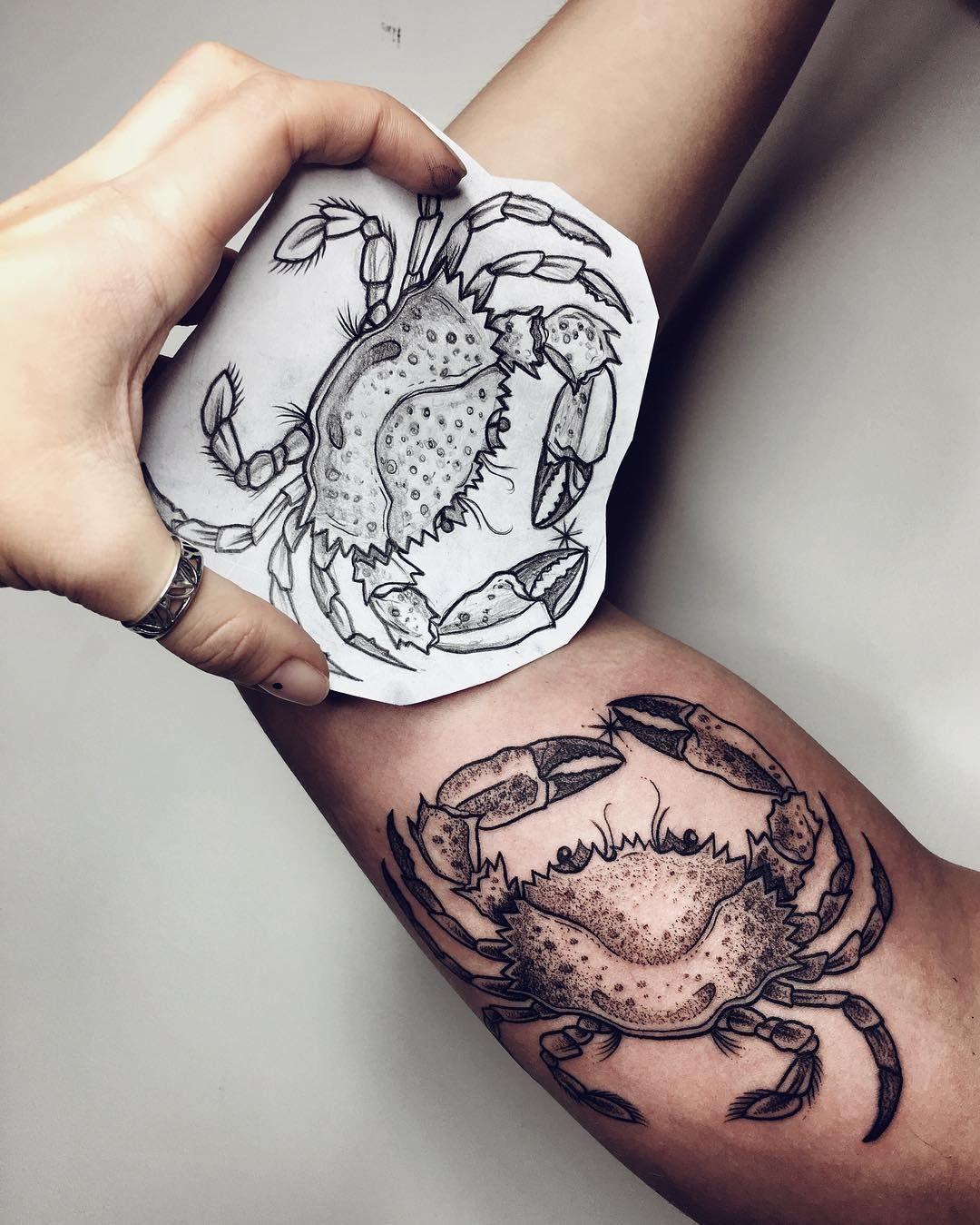 Crab Tattoo Cancer Tattoos Crab Tattoo Cancer Zodiac Tattoo