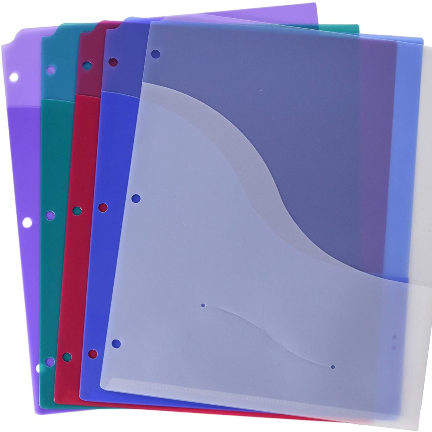 School Smart Poly Binder Pocket Divider 8 1 2 X 11 Inches Assorted Colors Pack Of 5 In 2020 Binder Pockets Ring Binder Vinyl Cover