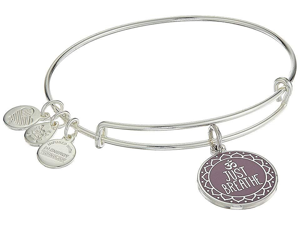 4f4bb824d3402 Alex and Ani Words are Powerful Just Breathe Bangle (Shiny Silver ...
