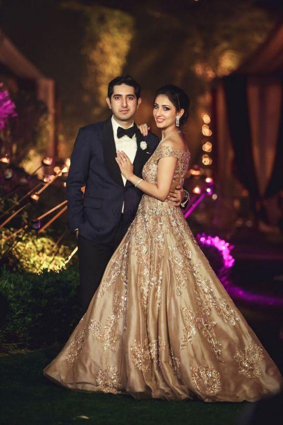 Ridhima Karan Delhi Real Wedding Indian Wedding Gowns Wedding Reception Dress Engagement Dress For Bride