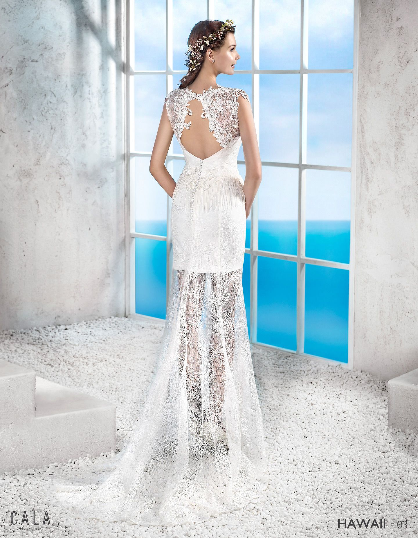 Hawaii | Short straight inner bodice with lace see through parts ...