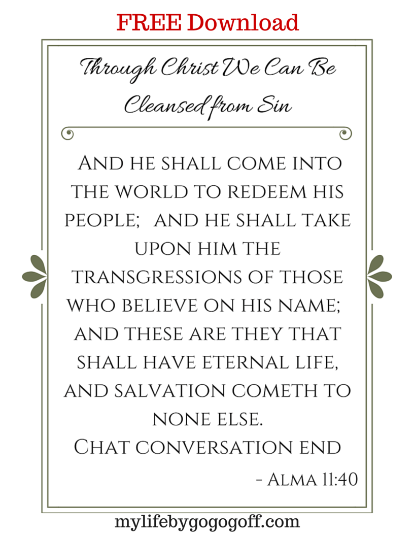 Free printables to help ponderize preach my gospel the verse to ponderize is from