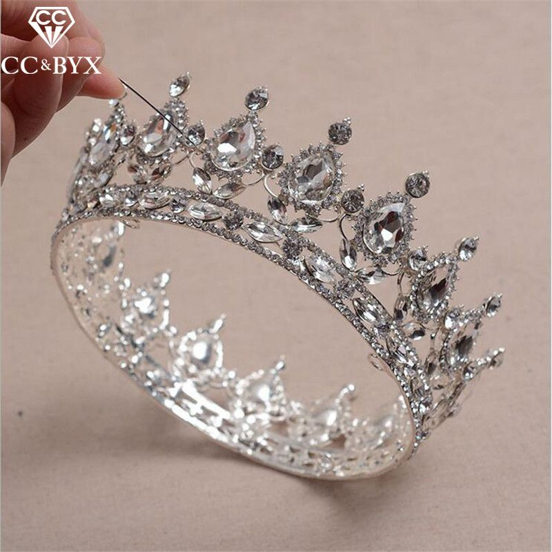 Hairstyles With Crown Queen: CC Crowns Tiaras Hairbands Princess Crystal Luxury Wedding