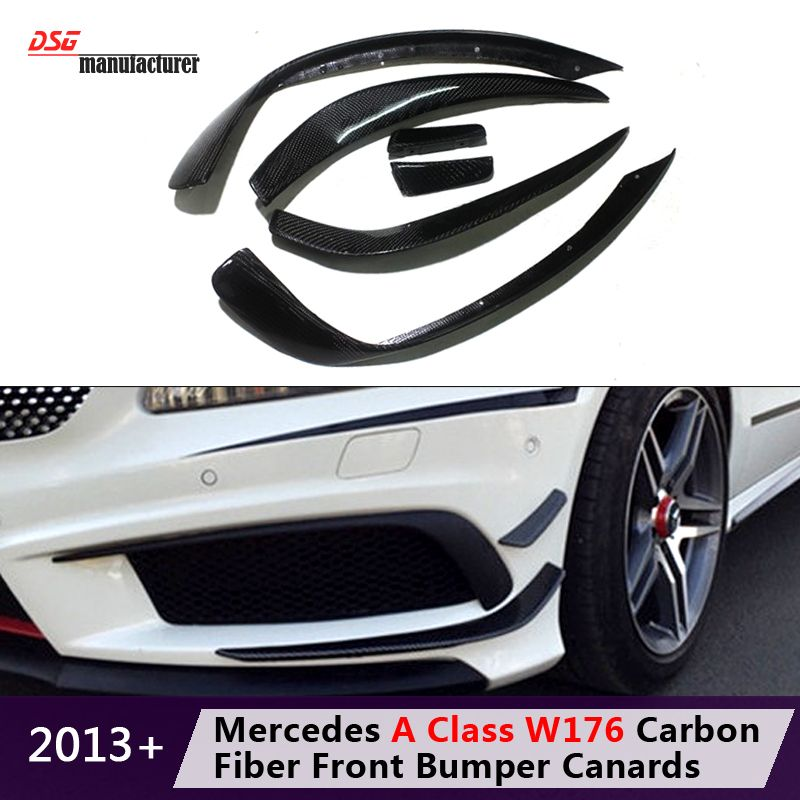 Mercedes A Class W176 Front Bumper Canard Splitters For