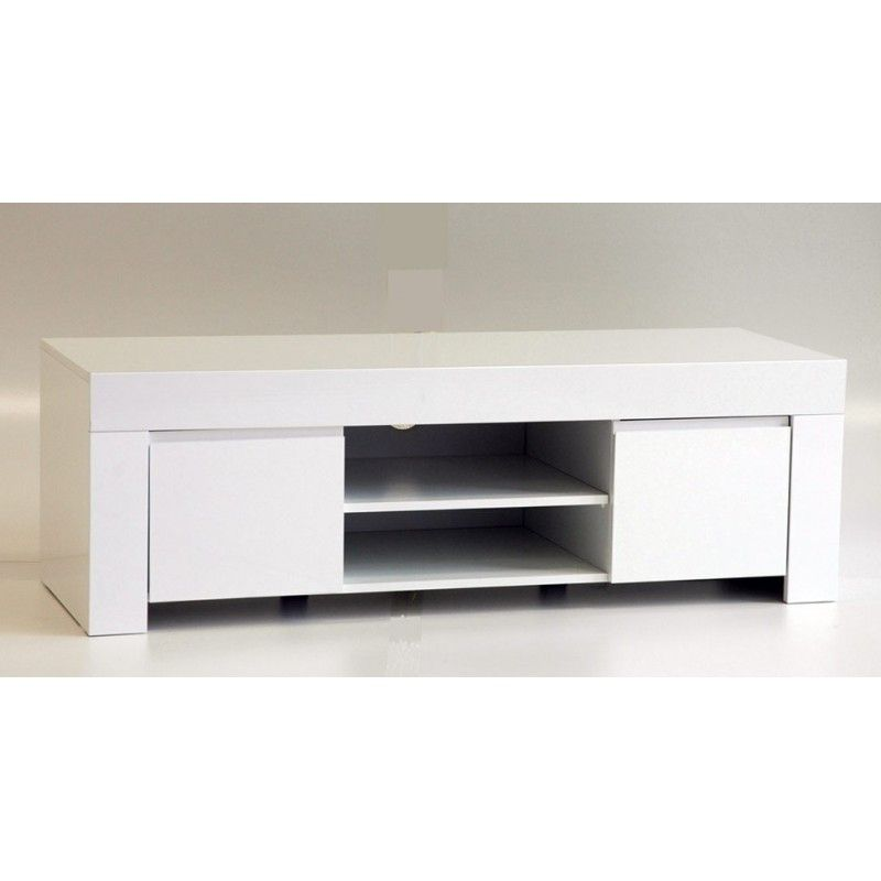 Scandinavian White Retro Tv Stand For 32 To 55 Television Entertainment Unit Cabinet With Shelves White Tv Stand Retro Tv Stand White Tv Stands Home Styles