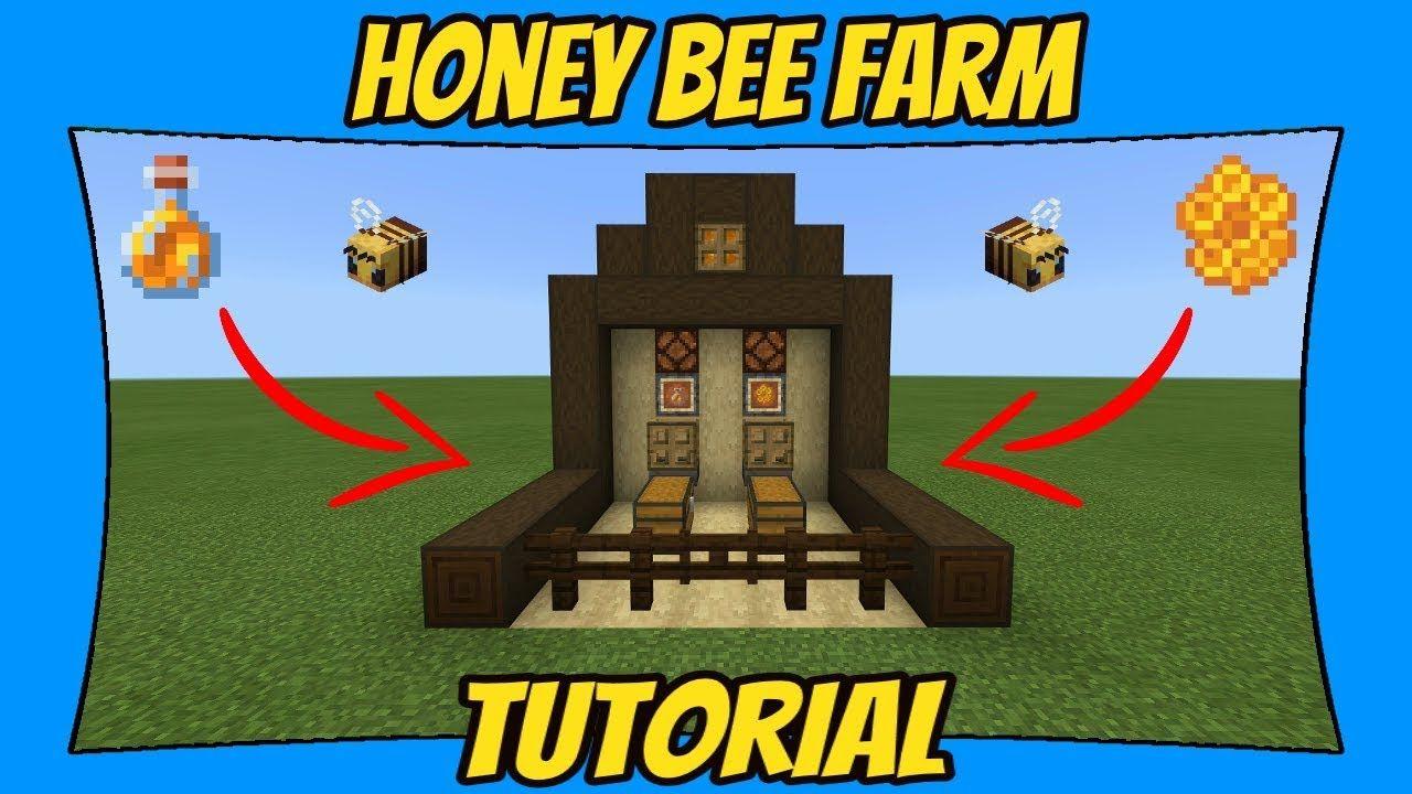 Automatic Honey Bottle Honeycomb Farm Tutorial Minecraft