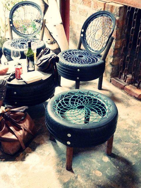 pneus viram cadeiras