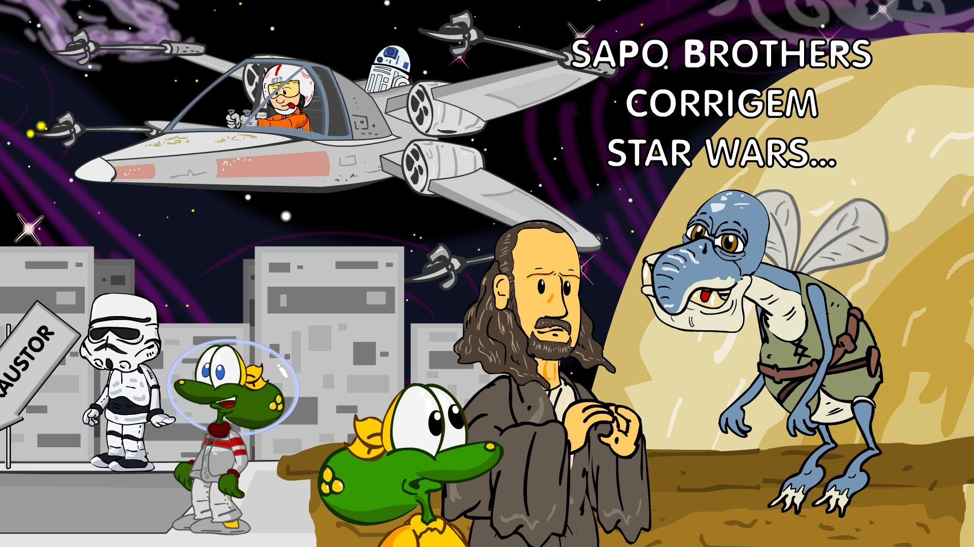 Sapo Brothers corrigindo StarWars