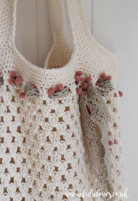 Free Crochet Market Bag Pattern   Lululoves Crochet Blog   MIRA en ...