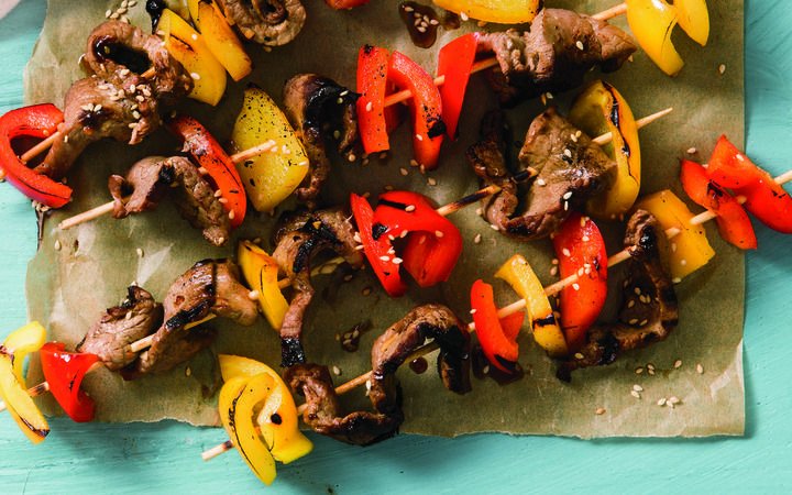 Beef And Bell Pepper Kebabs From The Cooking Light Diet