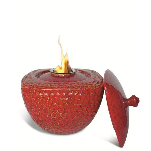 Pacific Decor Round/Square Ceramic Flame Pot, 9-Inch by 9-Inch by 9-Inch, Red by Pacific Décor. $44.99. Decorative tabletop flame pot. Measures 9 Inches by 9 Inches by 9 Inches. Use with gel fuel cans. Made of porcelain. The round/square flame pot from Pacific Decor will add a touch of class to your table. It measures 9 inches by 9 inches by 9 inches. Made of porcelain. Place on a fire proof stable surface away from flammables and out of reach of children and pets. Use only ...