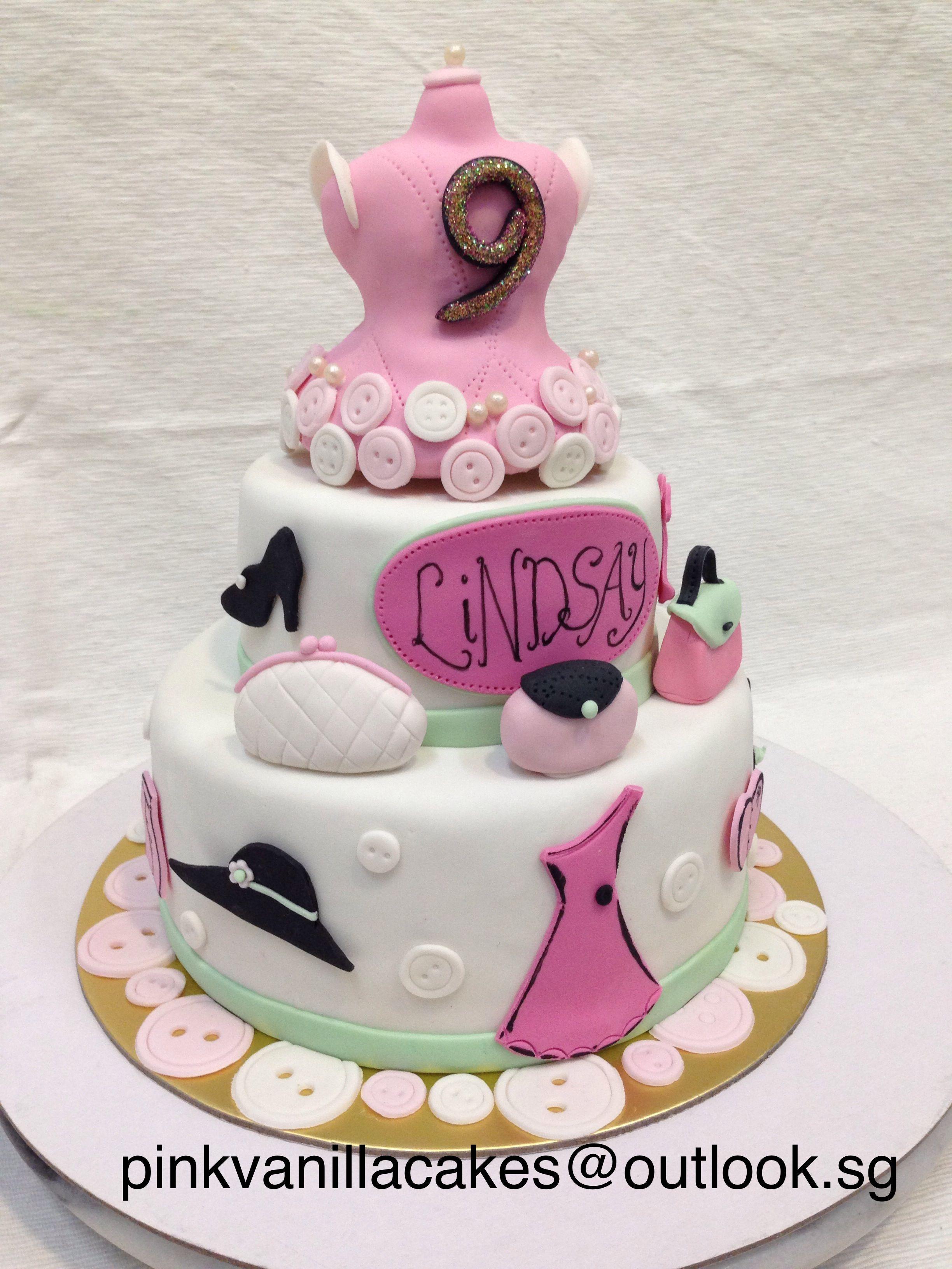 fashion birthday cake 3D birthday cake Singapore fashionista