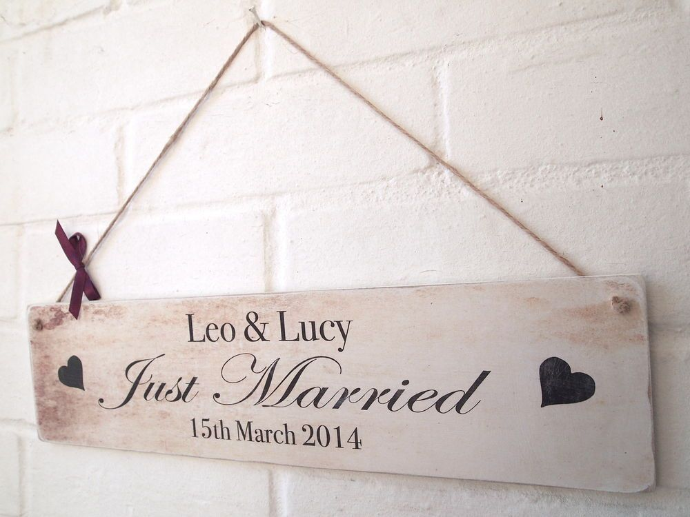 Th wedding anniversary gifts custom last name signs personalized
