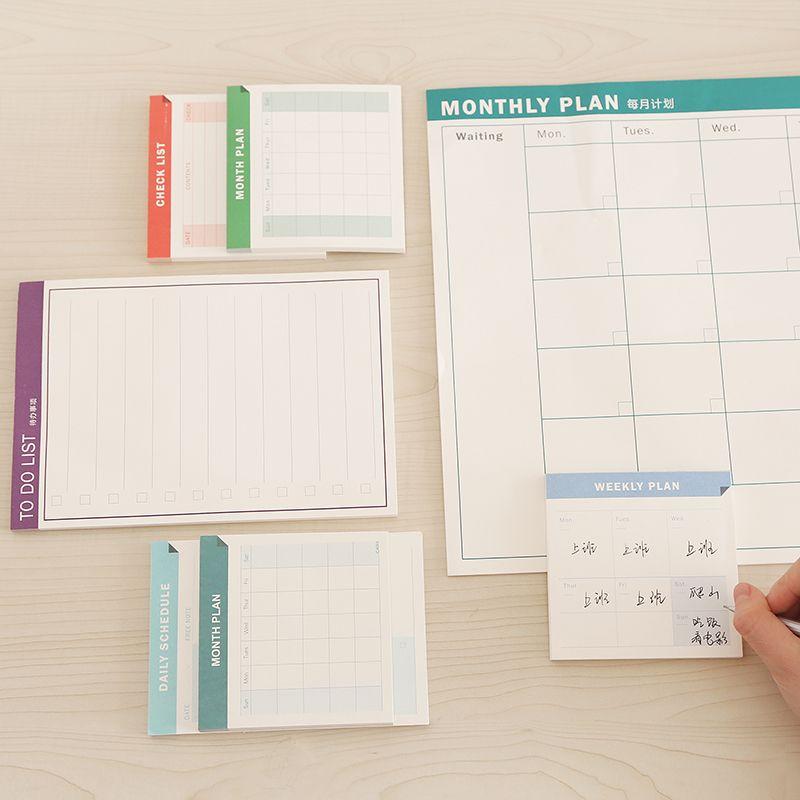 Small portable memo pad schedule notes notepad material escolar