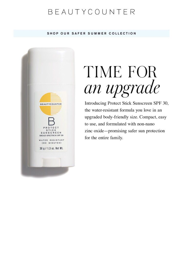 Time For An Upgrade Larger Sun Sticks Available Now Www Beautycounter Com Ashleystroble Safe Skincare Beautycounter Spf Sunscreen
