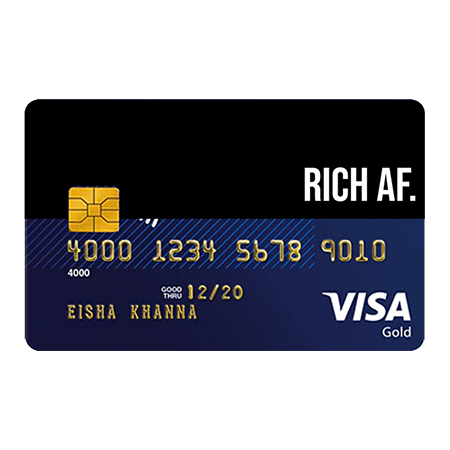 Rich Af Credit And Debit Card Sticker Debit Card Fishing Cards Cards
