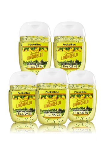 Limoncello 5 Pack Pocketbac Sanitizers Bath And Body Works