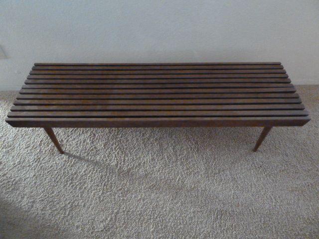 Classic slat bench,
