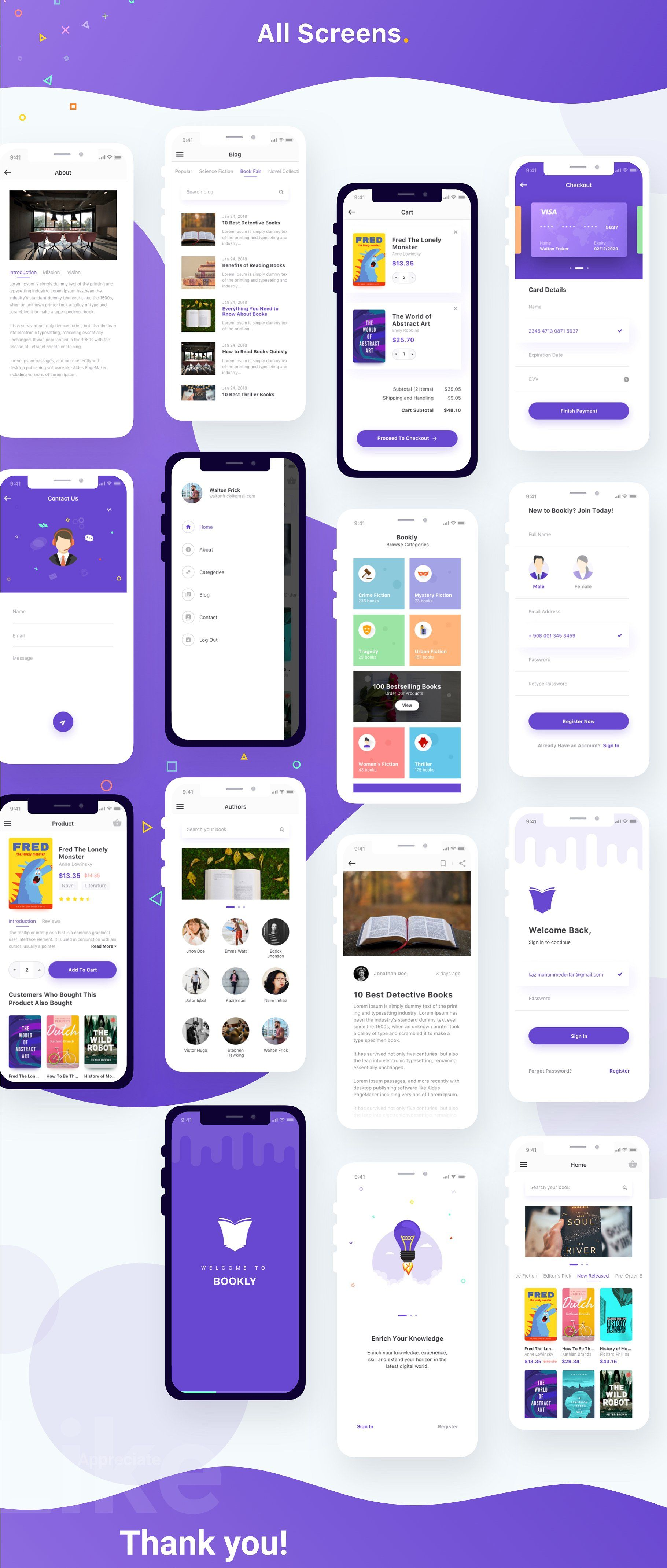 Bookly Ios Sketch App Template Iphone App Design Android App