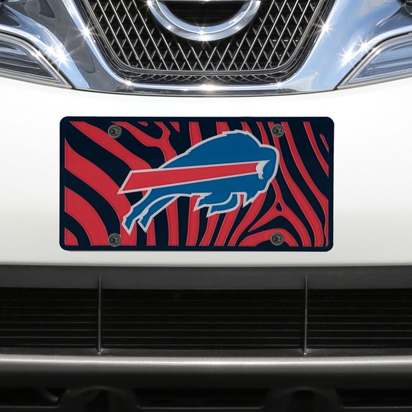 Buffalo Bills Zebra Acrylic Cut License Plate - $29.99