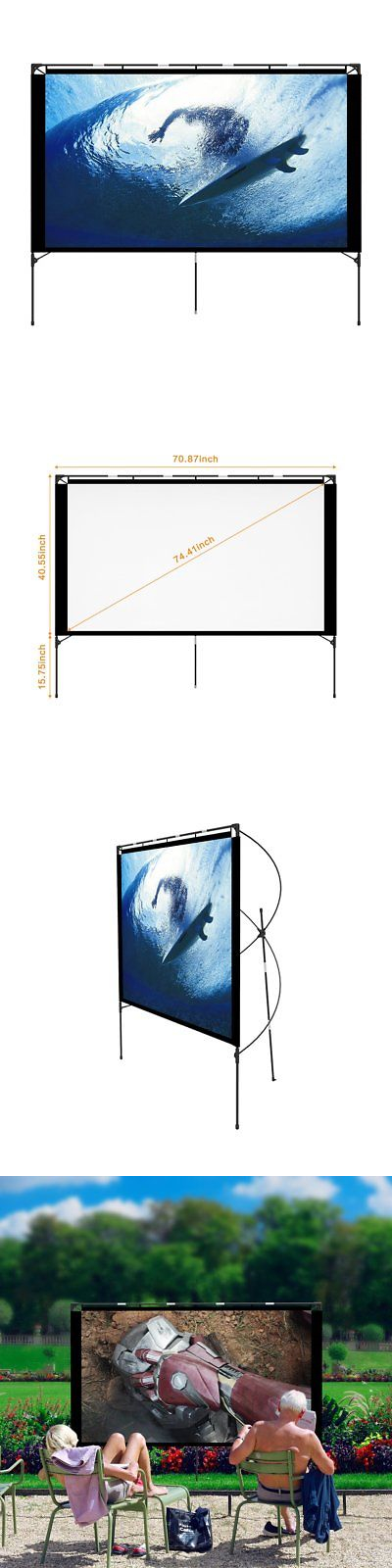 Projection Screens and Material: Outdoor Projector Screen ...