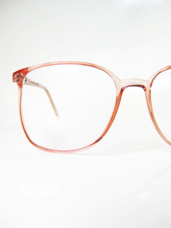 d324273bf7a Pastel Pink Eyeglasses 1980s Womens Wayfarer Round Glasses Eyeglass Frames  Bubblegum Baby Indie Hipster Girly Feminine 80s Oversized